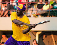 James Worthy takes a swing. Stock Photo
