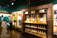 Jameson Experience, een Iers die whiskymuseum en een bezoekercentrum in de Oude Midleton-Distilleerderij in Midleton wordt gevest royalty-vrije stock foto's