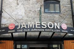 Jameson whiskey distillery and museum in Dublin. Dublin is a famous old town in Ireland and Jameson is a famous whiskey producer royalty free stock photography