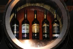 Jameson whiskey distillery and museum in Dublin. Dublin is a famous old town in Ireland and Jameson is a famous whiskey producer stock image