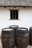 Jamestown -有历史的房子 库存图片