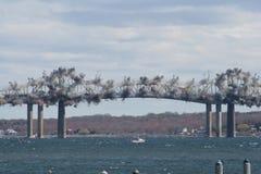 Jamestown Brücken-Demolierung lizenzfreies stockbild