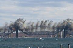 Jamestown Brücken-Demolierung lizenzfreie stockbilder