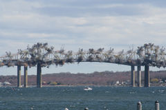 Jamestown Bridge Demolition Royalty Free Stock Image