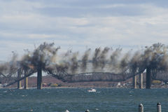 Jamestown Bridge Demolition Royalty Free Stock Images
