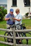 Jamestown, RI: Couple Studying Map Royalty Free Stock Photo