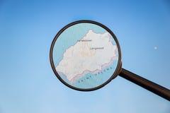 Jamestown, St. Helena correspondencia pol?tica fotografía de archivo libre de regalías