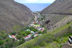 Jamestown, St Helena island. Jamestown, city in a valley, St Helena Stock Images