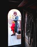 Jamestown, Virginia onboard the Susan Constant sailing ship Stock Photos