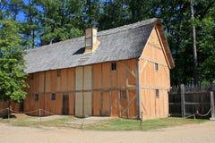 Jamestown, Virginia. Timber framed building in Jamestown, USA Royalty Free Stock Image
