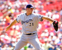 Jamey Wright. Milwaukee Brewers P Jamey Wright, #21. (Image taken from color slide royalty free stock image
