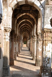 Jami Masjid,Champaner.Gujarat. Jami Masjid was built in the year 1508-9 AD by Sultan Mehmud Begda (1458-1511 AD). It is one of the finest mosques and a huge Stock Photo
