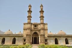 Jami Masjid (moské), chapaner, Gujarat arkivbild
