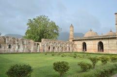 Jami Masjid (moskee) met aard bij chapaner, Gujarat stock foto's