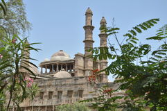 Jami Masjid (mosque) with nature at chapaner, Gujarat. Jami masjid is one of finest mosque in gujarat Royalty Free Stock Photography