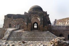 Jami Masjid no xá Kotla de Feroz Imagem de Stock