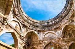 Jami Masjid, un'attrazione turistica importante al parco archeologico di Champaner-Pavagadh - Gujarat, India Immagine Stock Libera da Diritti