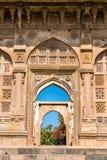 Jami Masjid, un'attrazione turistica importante al parco archeologico di Champaner-Pavagadh - Gujarat, India Fotografie Stock