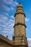 Jamia Masjid清真寺,迈索尔,印度尖塔和墙壁  免版税库存照片