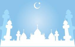 Jamiah meczet w Pattani, Tajlandia, Wektorowa ilustracja Ilustracji