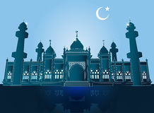 Jamiah meczet w Pattani, Tajlandia, Wektorowa ilustracja Ilustracja Wektor