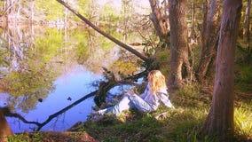 Jamie στον ποταμό SanteFe Στοκ εικόνες με δικαίωμα ελεύθερης χρήσης