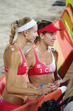 Jamie Broder and partner Kristina Valjas from Canada at Rio2016 Stock Photos