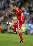 Jamie Carragher of Liverpool. FC in action during a friendly match against RCD Espanyol at the Estadi Cornella-El Prat on August 2, 2009 in Barcelona, Spain Royalty Free Stock Photography