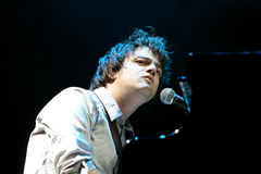 Jamie Cullum. British jazz-pop singer and musician Jamie Cullum performs at music festival Colours of Ostrava on July 10, 2009 in Ostrava, Czech republic Stock Images