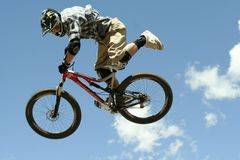 Jamie Goldman - Slopestyle Competition Royalty Free Stock Photo