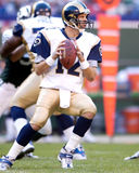 Jamie Martin. St. Louis Rams back-up QB Jamie Martin, #12.  image taken from color slide Royalty Free Stock Images