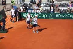 Jamie Murray and Dominic Inglot on Davis Cup, BELGRADE, SERBIA JULY 16, 2016 Stock Photos