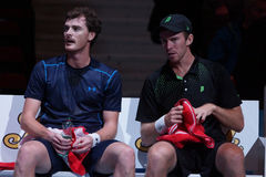 Jamie Murray (GBR) and John Peers (AUS) Royalty Free Stock Photo