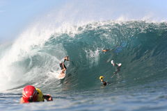 Jamie Sterling at Pipeline. Jamie Sterling is always one of the stand outs at Pipeline in Hawaii Stock Image