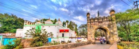 Jamil Baig Masjid Mosque and Mahmud Darwaza Gate in Aurangabad, India Stock Photos