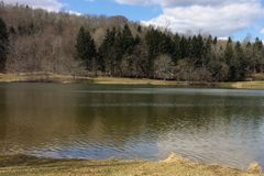 Jamison Reservoir Westmoreland County, Pennsylvania 2019 royalty-vrije stock fotografie