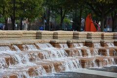 Jamison Square in Portland, Oregon stock fotografie