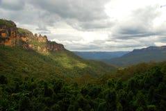 Jamison Valley, montagne blu parco nazionale, Nuovo Galles del Sud, Australia Fotografia Stock Libera da Diritti