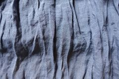 Jammed blue cotton and polyester fabric. Jammed thin blue cotton and polyester fabric Stock Photos
