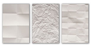 Jammed paper texture. White background Royalty Free Stock Image