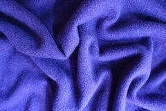 Jammed violet thin simple woollen jersey fabric. Jammed violet thin simple woolen jersey fabric Stock Images