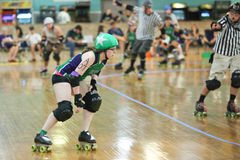 Jammer. Roller derby, one of the fastest growing sports for women all across the globe Royalty Free Stock Photos