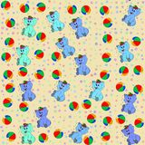 Jammies seamless pattern jumbo and ball Royalty Free Stock Images
