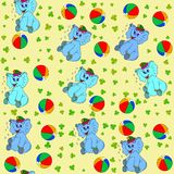 Jammies seamless pattern whith jumbo and ball Royalty Free Stock Photography