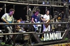 Jammil. Tuca Fernandes singer band in the Jammil Band, brings the Balada Trio Elétrico from Bahia Carnival Stock Photo