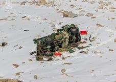 Jammu, Kashmir e Ladakh - entre o pico alto e estradas perigosas fotos de stock royalty free
