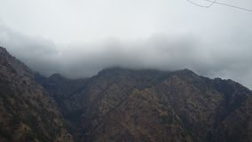 Jammu. When rain was going to come in vaishno devi temple stock images