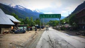 Jammu till den Srinagar vägsikten royaltyfria foton