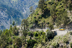 Jammu to Srinagar border road, India Royalty Free Stock Images