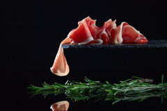 Jamon avec le romarin Photo stock